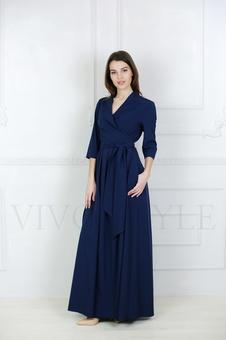 Женственное платье с рукавом три четверти 20642K-1