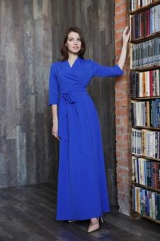 Женственное платье с рукавом три четверти 20642K-5