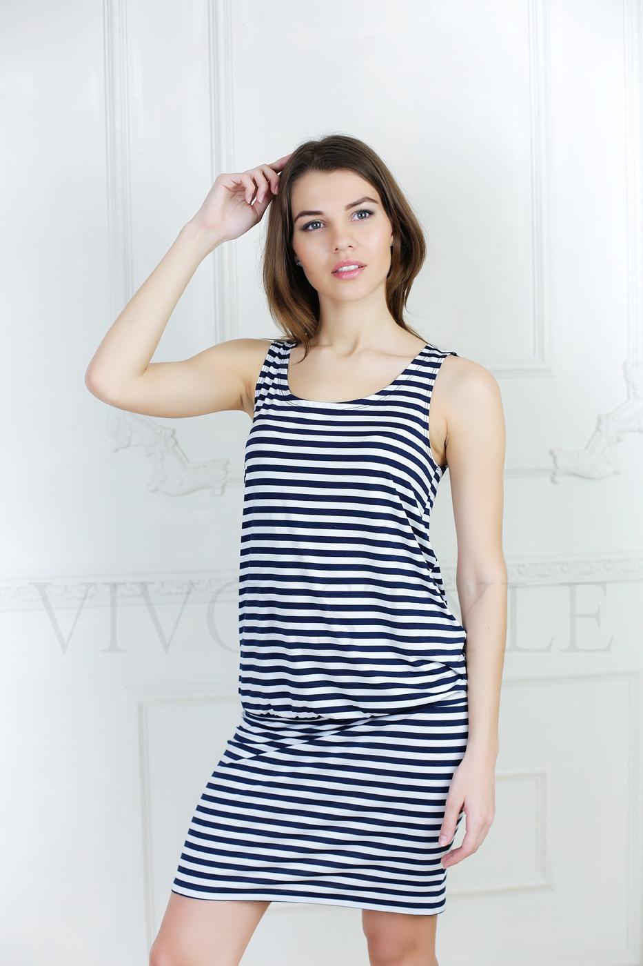 Молодежное летнее платье без рукавов