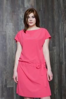 Женское платье с коротким рукавом 20658KC-2