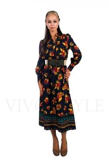 Длинное платье с рукавом 26003-2