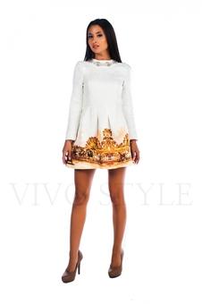 Закрытое короткое платье 26006-1