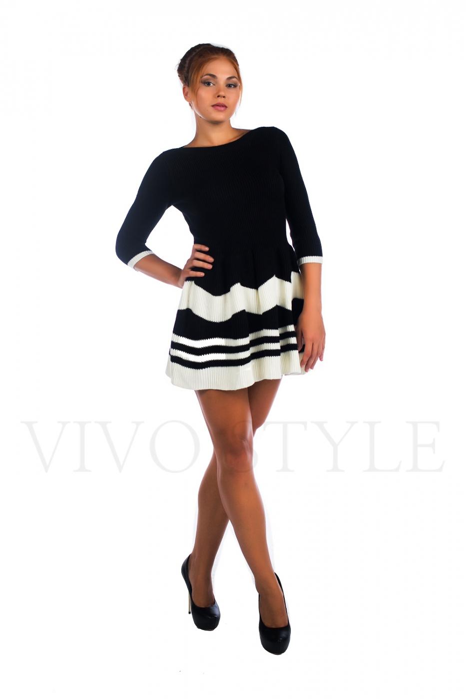 Черно-белое платье молодежное