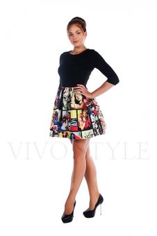 Короткое молодежное платье 26010-1
