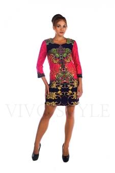 Платье с орнаментом 26012-1