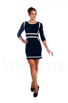 Сдержанное короткое платье большого размера 26015-1