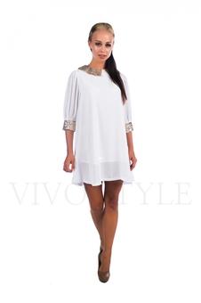 Нарядное молодежное платье с пайетками 26022-1