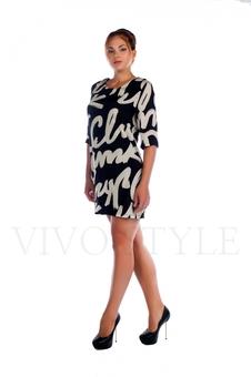 Повседневное молодежное платье с рукавом 26025-1