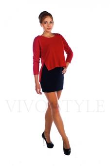 Платье мини с длинным рукавом 26027-1