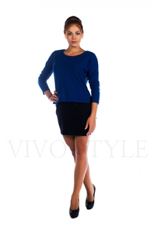 Платье мини с длинным рукавом 26027-2