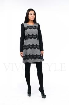Платье с кружевом 26033-1