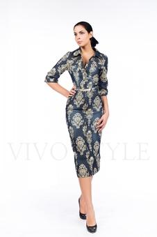 Платье с нагрудными карманами 26034-1
