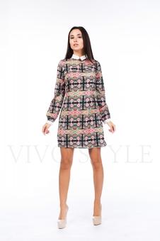 Платье с цветочным рисунком 26035-1
