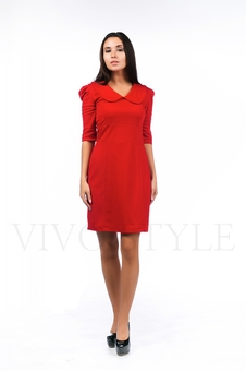 Платье с воротником 26036-1