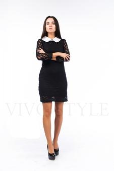 Платье из гипюра на подкладке 26038-1