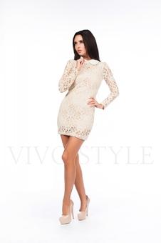 Платье из гипюра на подкладке 26038-2