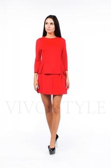 Однотонное короткое платье 26039-3