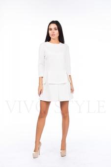 Однотонное короткое платье 26039-2