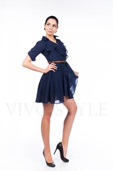 Платье из шифоновой ткани