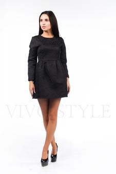 Платье со складками по талии 26041-1