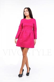 Платье со складками по талии 26041-2