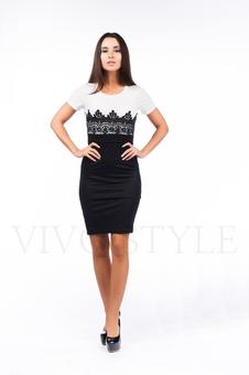 Облегающее строгое платье 26045-1