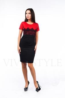 Облегающее строгое платье 26045-2