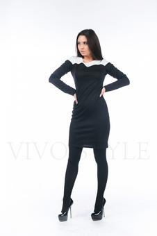 Деловое женское платье с рукавом 26047-1