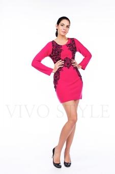 Короткое платье с изящным принтом 26061-2