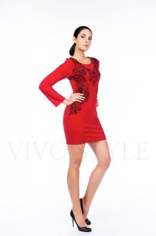 Короткое платье с изящным принтом 26061-3