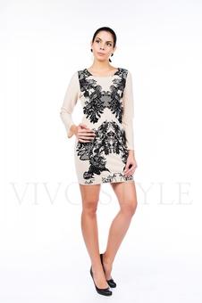 Короткое платье с изящным принтом 26061-4
