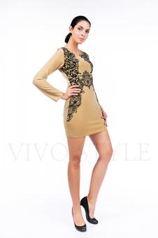 Короткое платье с изящным принтом 26061-5