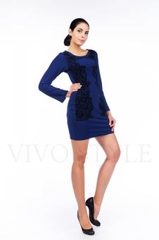 Короткое платье с изящным принтом 26061-6