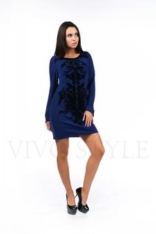 Короткое платье с изящным принтом 26061-7