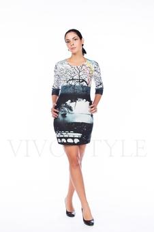 Платье полуприлегающего силуэта 26066-1