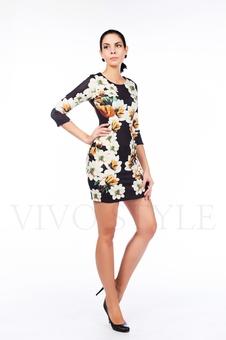 Платье с цветами 26069-1