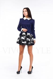Многослойное короткое платье 26089-1