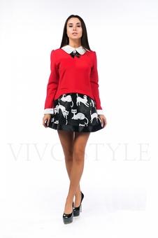 Многослойное короткое платье 26089-2