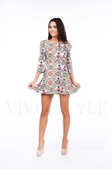 Платье с горизонтальными швами 26097-1
