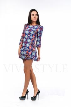 Платье с горизонтальными швами 26097-3
