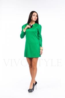 Женское платье с вышивкой по манжетам 26099-1