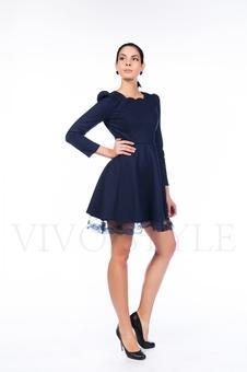 Трикотажное платье с длинным рукавом 26100-1