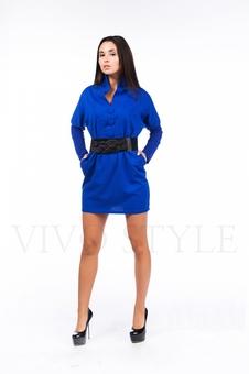 Женское платье с цельнокроеным воротником 26102-1
