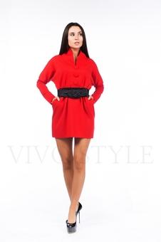 Женское платье с цельнокроеным воротником 26102-3