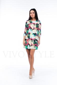 Платье с ярким рисунком 26111-1