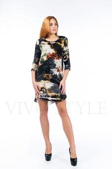 Платье с фигурным низом 26112-1