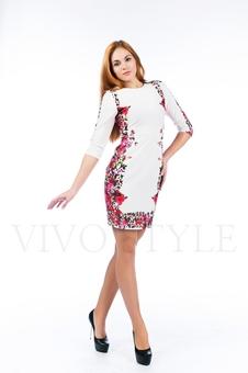 Женственное платье с рисунком 26114-1