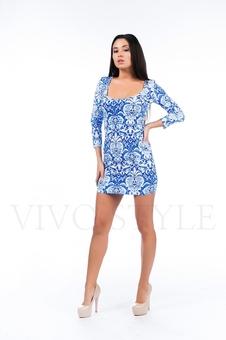Платье с орнаментом 26115-1