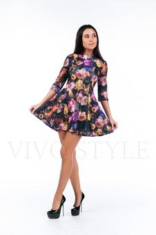 Платье с цветочным рисунком 26117-1