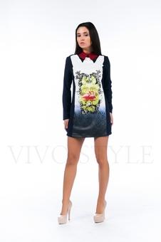 Платье с фламинго 26120-1
